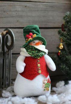 Новый год 2016 ручной работы. Снеговик новогодний.. Игрушка интерьерная. Созонова Юлия (Винтажные зайцы). Интернет-магазин Ярмарка Мастеров.