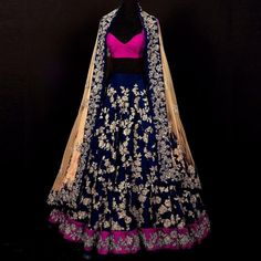 Buy Circular Blue Satin Designer Lehenga Online at cheap prices from Shopkio.com: India`s best online shoping site