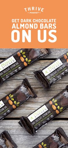 Get your FREE 6-pack box of dark chocolate almond bars at Thrive Market! On a mission to make healthy living easy and affordable for everyone, Thrive Market offers premium, organic foods and healthy products up to 50% off every day with delivery right to your door. Get your FREE pack today while supplies last, and start saving!