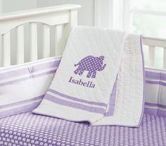 purple elephant bedding for girl