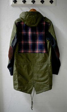 Number (n)ine Parka back. Fishtail Parka, Junya Watanabe, Parka Coat, Swagg, Mens Fashion, Fashion Trends, Street Wear, Menswear, Military Jacket