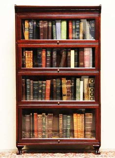 Antique bookcase for old books... I have one of these filled with old books... Love it