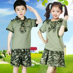2015 summer children's camouflage clothing set  boy  kids suit girl clothes for teenagers girls baby outfit conjunto bebe