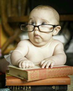 Haha! Nerdy baby!!!! It is SOO funny!! Haha!!
