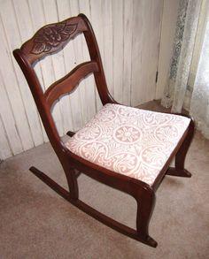 Antique Carved Rose Back Saber Leg Mahogany Dining Parlor