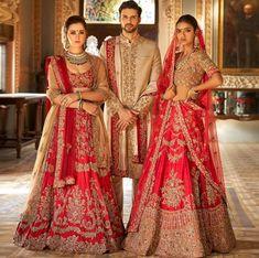 706a2a6316 Beautifully Embroidered Lehenga Sherwani, Pakistan Fashion Week, Indian  Costumes, Desi Bride, Groom