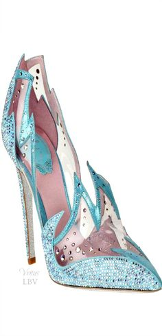 Rene Caovilla ♥✤ Cinderella Glass Slipper Interpretation (Front View)