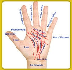 Cup your hand slightly under a bright lamp. Keep in mind: According to hand analysts, a less prominent line reflects an area of life that may need work, while a deeper one signals that the characteristic related to that line is strong and fully developed.