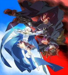 Emi Yusa and Sadao Maou Devil Part Timer, Sakura Mochi, Hataraku Maou Sama, Cute Couple Drawings, Anime Warrior, Anime Nerd, Demon King, Another Anime, Dark Fantasy Art