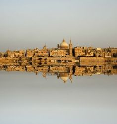 Ancient architecture of Malta island with reflection of Valletta :))