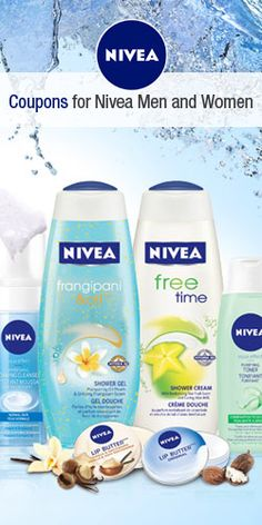Coupons for Nivea Men and Women Free Stuff Canada, Free Samples, Men And Women, Coupons, Aqua, Nivea Products, Makeup, Places, Products