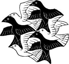 Children are fascinated by Escher's tesselations.