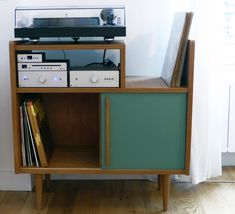 #Vinyl #Storage - Atelier Monsieur Madame....Exact 33 vinyl record cupboard Mom & Dad had in the rec room!