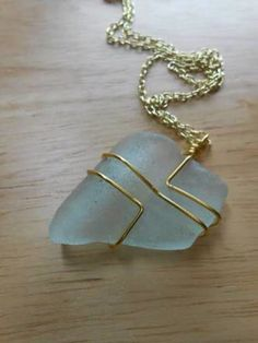 Wire wrapped stones do it yourself remodeling ideas bijoux sea glass pendant solutioingenieria Gallery
