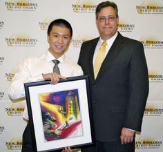 Feng Li with Marketing Director Corey Blake