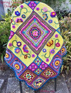 Crochet Throw Pattern, Crochet Bedspread, Crochet Square Patterns, Crochet Quilt, Crochet Blocks, Crochet Squares, Crochet Granny, Crochet Stitches, Crochet Blankets