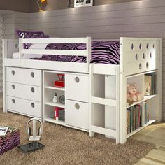 Found it at Wayfair - Circles Twin Loft Bed with Storage