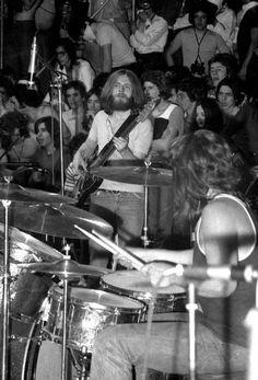 John Paul Jones & John Bonham of Led Zeppelin in Milan, Italy 1971.