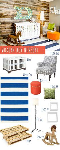 Modern Boy Nursery CopyCat Design on a Frugal Budget!