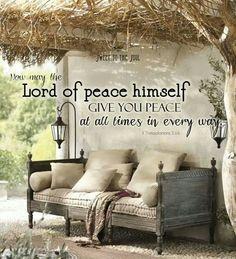 I I Thessalonians 3:16 Bible verse. Lord of peace ... Spiritual inspiration.