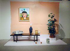"Joanna Powell - A Simple Complicated Truth, 2014 earthenware, canvas, acrylic, plastic 10' x 4' x 7'9"""
