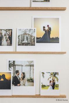 DIY fotowand van een stylist Wedding photowall polaroids Binti Home ©BintiHome