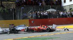 Una lástima todo lo sucedido en el G.P. de Bélgica, aunque contento porque Alonso haya salido ileso.
