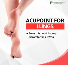 Press this potent acupressure point for any lung discomfort. #ModernReflexology