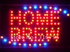 led113-r Home Brew Beer Bar Led Neon Sign WhiteBoard Wholesale Dropshipping