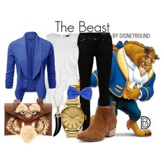 The Beast by leslieakay on Polyvore featuring Exclusive for Intermix, Yves Saint Laurent, Nixon, Simone I. Smith, disney and disneybound