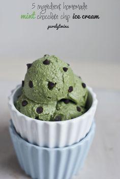 raw mint chocolate chip avocado ice cream
