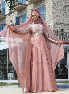 Efsun Abiye Elbise - Pudra - Minel Aşk