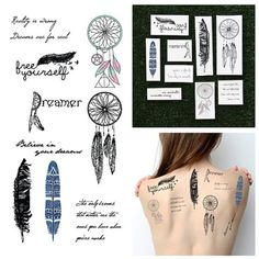 Tattify Dreamcatcher Themed Temporary Tattoos - Light as ...