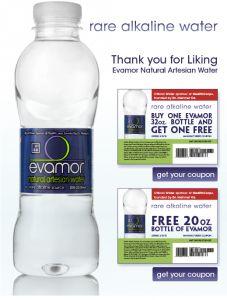 Free Bottles of Evamor Natural Artesian Water!