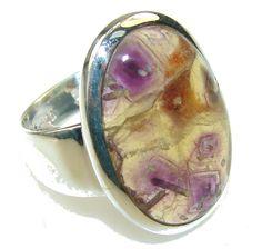$54.25 Amazing Ametrine Sterling Silver ring; size 7 1/4 at www.SilverRushStyle.com #ring #handmade #jewelry #silver #ametrine