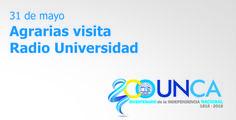 Agrarias visita Radio Universidad #UNCA #Catamarca #agrarias #bicentenario #Independencia