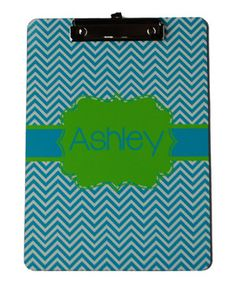 This Teal & Lime Personalized Clipboard by Swirl Designs is perfect! #zulilyfinds