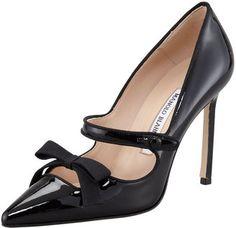 Manolo Blahnik Fiocam Patent Leather Mary Jane Pump