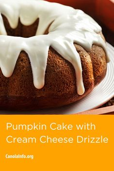 This cake has variations-try the chocolate chunk version or the pecan pumpkin version. Baked Pumpkin, Pumpkin Puree, Pumpkin Recipes, Entree Recipes, Dessert Recipes, Desserts, Bunt Cakes, Toasted Pecans, Cake With Cream Cheese