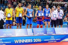 Dream Team FIVB World League 2016 Final Six:  MVP - Marko Ivovic (Serbia)  Best Outside Spiker - Marko Ivovic (Serbia)  Best Outside Spiker - Antonin Rouzier (France)  Best Middle Blocker - Mauricio (Brazil)  Best Middle Blocker - Srecko Lisinac (Serbia)  Best Libero - Jenia Grebennikov (France)  Best Setter - Simone Giannelli (Italy)  Best Opposite - Wallace (Brazil)  #fivbworldleague #fivb #fivbvolleyball #volleyball #siatkowka #krakowarena #siatkówka #volley #volei #sport #serbia #srbija…