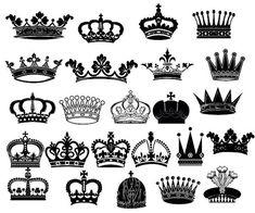 Crown Clipart // King Queen Crown Clip Art // Royal por BlueGraphic