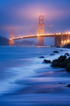 Golden Gate Bridge, San Francisco - The sights, sounds and tastes of my favorite city will be with me soon! San Francisco California, California Dreamin', Golden Bridge San Francisco, Places To Travel, Places To See, Puente Golden Gate, Monument Valley, Le Far West, Golden Gate Bridge