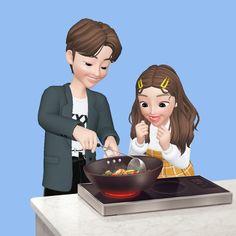 Love Cartoon Couple, Cute Cartoon Pictures, Cute Love Cartoons, Anime Love Couple, Cute Emoji Wallpaper, Cute Cartoon Wallpapers, Indian Illustration, Hijab Cartoon, Couple Romance