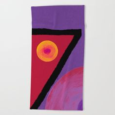 Ruby Seven Beach Towel by marinakanavaki Gifts For An Artist, Bath Towels, White Cotton, Sun, Printed, Beach, Painting, Design, The Beach