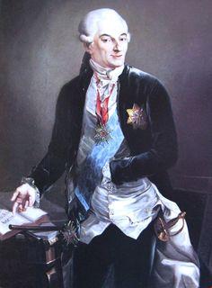 Портрет Антони Барнаба Яблоновский - Josef Grassi .circa 1791-1792. Josef Grassi