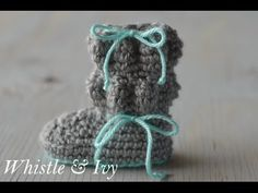 [Video Tutorial] These Adorable Bubble Boots Are Stylish And Stay On Baby's Feet! - Knit And Crochet Daily