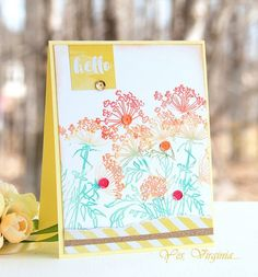 Yellow is such an attractive color. What are your go-to colors? Virginia for the Simon Says Stamp Wednesday challenge blog.