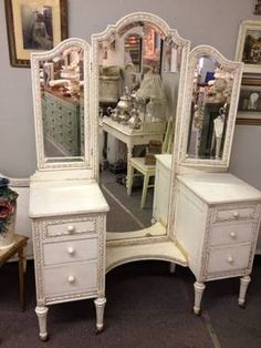 Antique Vanity Vanities And Full Length Mirrors On Pinterest