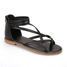 GET $50 NOW   Join RoseGal: Get YOUR $50 NOW!http://www.rosegal.com/sandals/chain-cross-strap-sandals-1130938.html?seid=4514413rg1130938