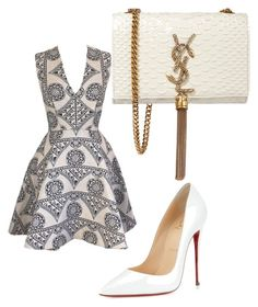 """Untitled #113"" by viktoria-schach on Polyvore featuring Joana Almagro, Christian Louboutin, Yves Saint Laurent, women's clothing, women's fashion, women, female, woman, misses and juniors"